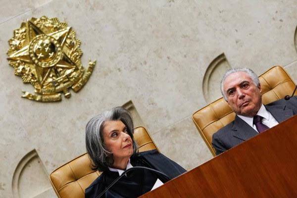 Carmen Lúcia e Michel Temer