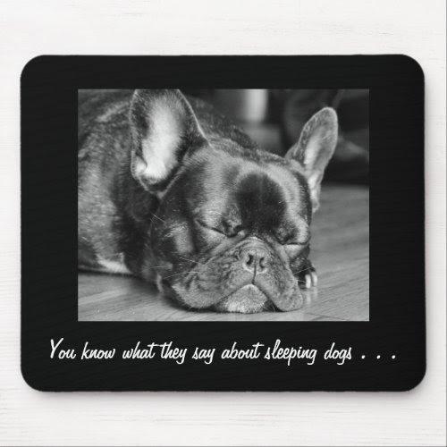 Sleeping Dogs French Bulldog Mousepad
