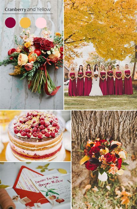 Top 5 Fall Wedding Color Combo Ideas for Autumn Brides