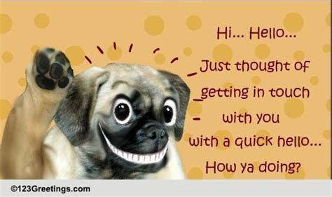How Ya Doing? Free World Hello Day eCards, Greeting Cards