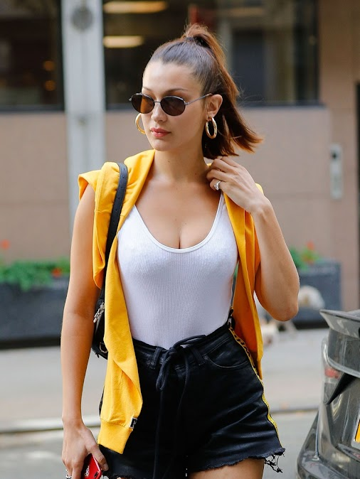 Bella Hadid Has a Foolproof Bob Strategy for the Last Days of Summer  For Bella Hadid, chin-grazing ...
