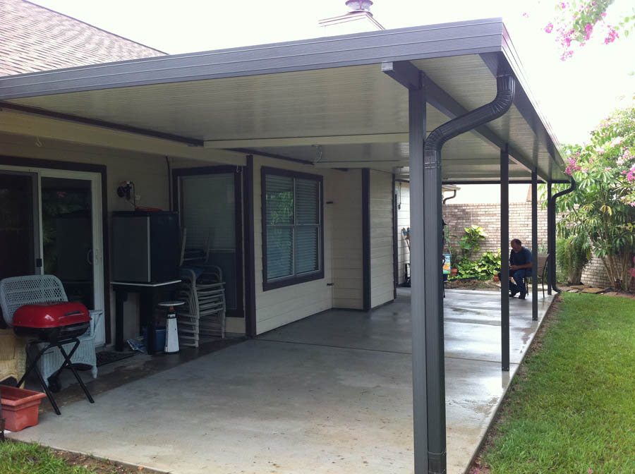 Aluminum Patio Cover with Fan Beams in Clear Lake » A-1