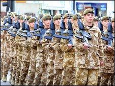 Troops in Watford