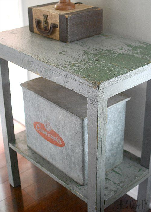 Chippy side table, entry table