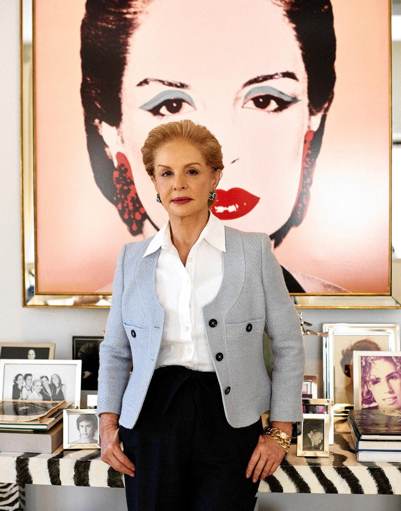 FACTORY GIRL | Carolina Herrera in her New York office with her Andy Warhol