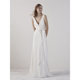 pronovias efia adhara crepe wedding dress  cross