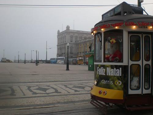 Santa Claus, tram driver