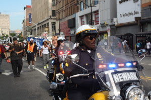 The stduents were peaceful and the police made good on the mayor's promise to protect dissent
