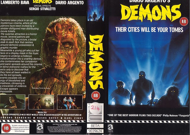 DEMONS (VHS Box Art)