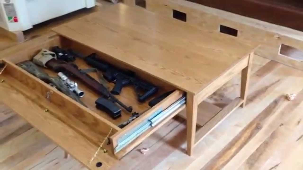 How to Build Hidden Compartment Coffee Table Plans PDF Plans