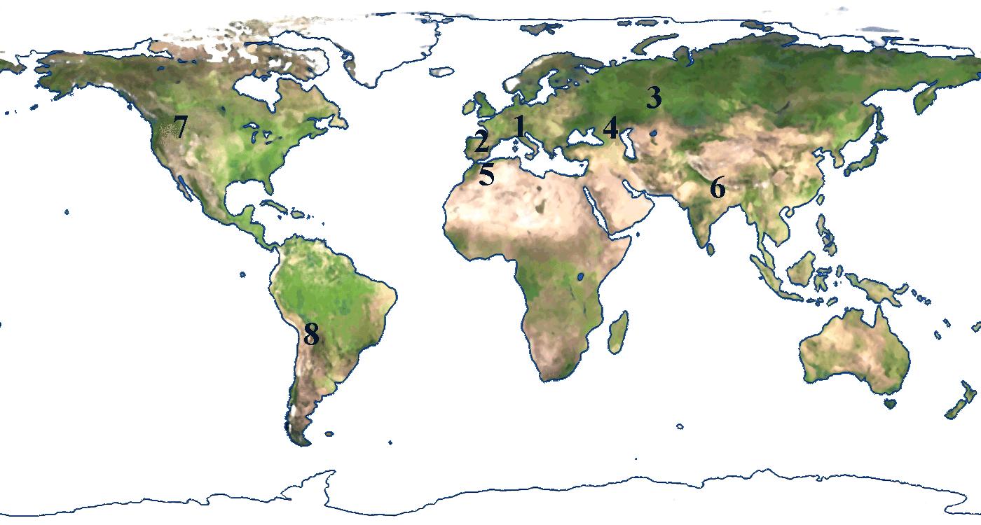 Karta Over Varldens Bergskedjor.Bergskedjor Karta Karta