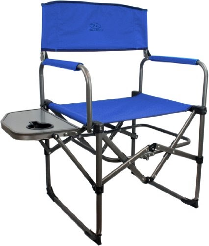 highlander directors chaise de camping bleu mobilier de camping chaises. Black Bedroom Furniture Sets. Home Design Ideas