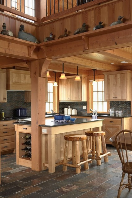 Hunting Lodge - eclectic - kitchen - minneapolis - by David Heide
