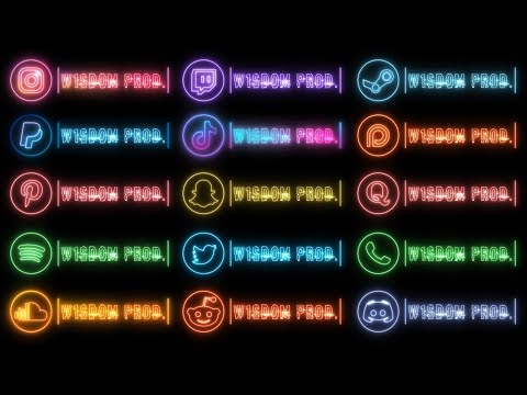 20 Neon Social Media Lower Thirds Pack | After Effects and Premiere Pro Templates |