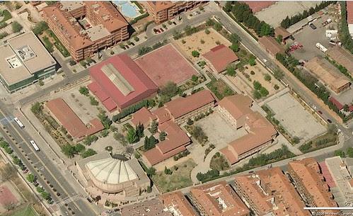 Vista aérea de los terrenos del Colegio de Infantes en 2007