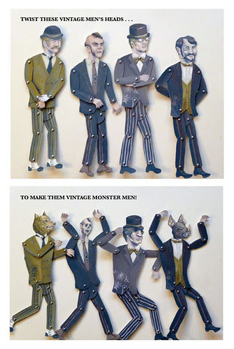 Retro Vintage Men / Monster Articulated Puppets