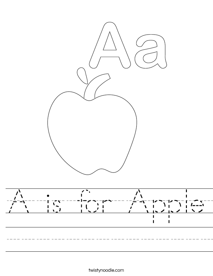 a is for apple 20_worksheet