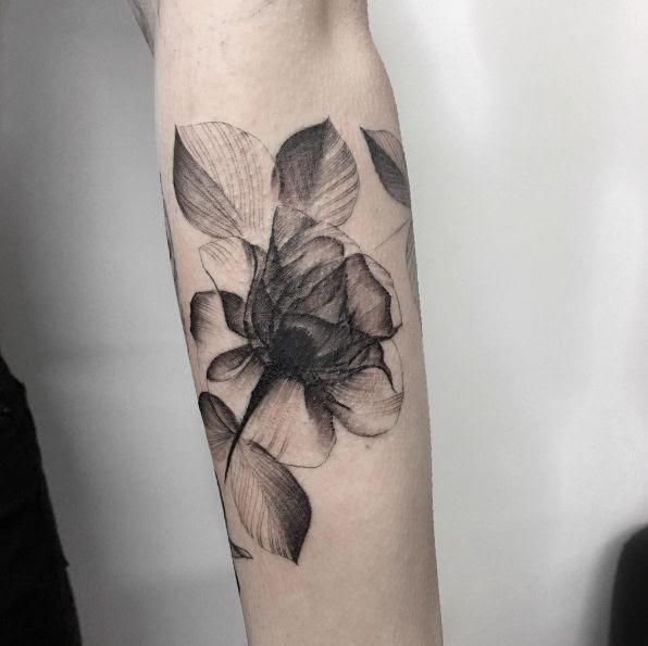 Women Tattoo X Ray Rose By Marlon M Toney Tattooviralcom