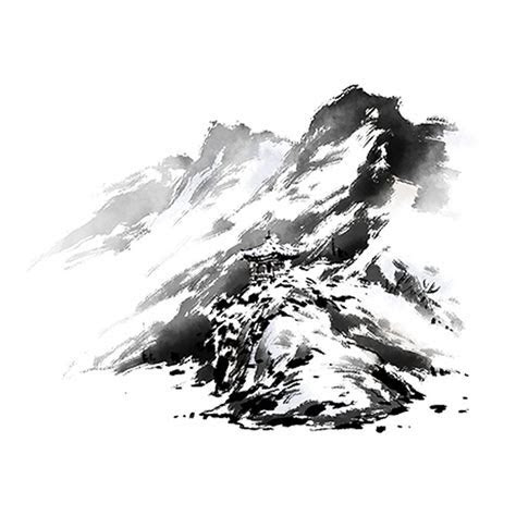 Chinese Wind And Ink Mountains, Chinese Clipart, Mountain