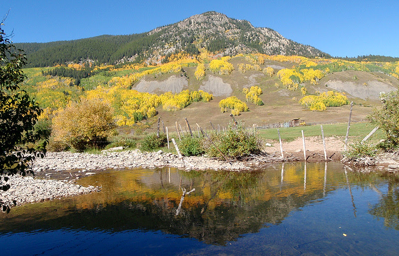 Brush Creek flows under the east slopes of Crested Butte.