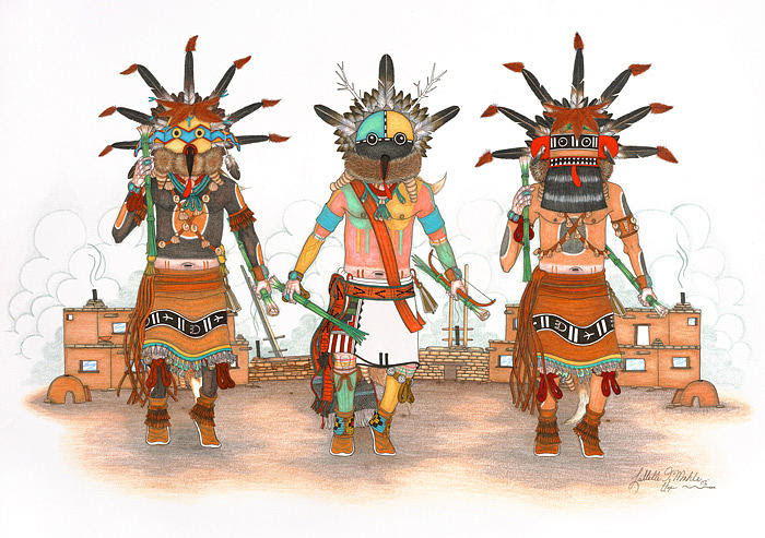 http://images.fineartamerica.com/images/artworkimages/mediumlarge/1/whipper-kachinas-lavelle-mahle.jpg