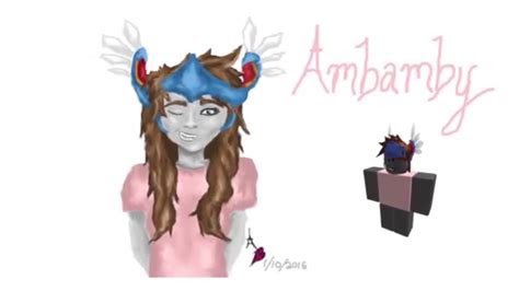 drawing  roblox character ambamby youtube