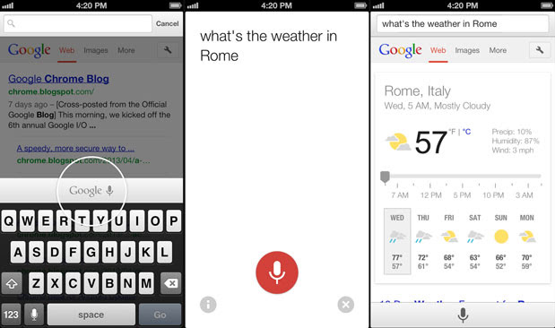 Chrome for iOS with voice search