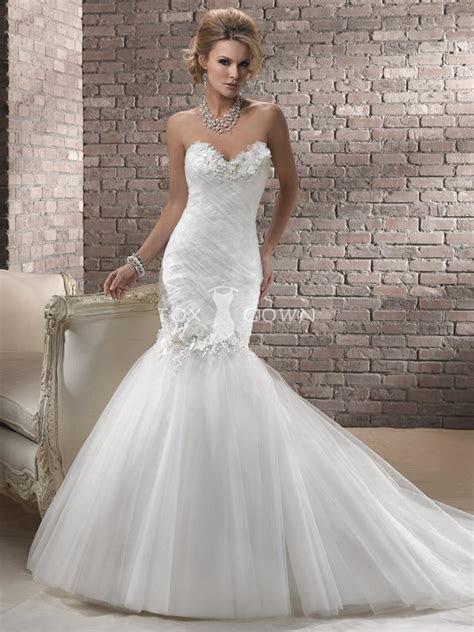 Plus Size Sweetheart Neckline Wedding Dress With Mermaid