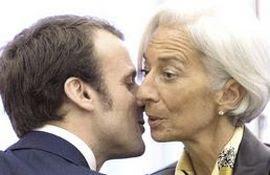 Emmanuel Macron e Christine Lagarde