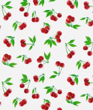 Kitchen Curtains? Very traditional 50's kitchen? White Stella Oilcloth Fabric - $6.05 | onlinefabricstore.net
