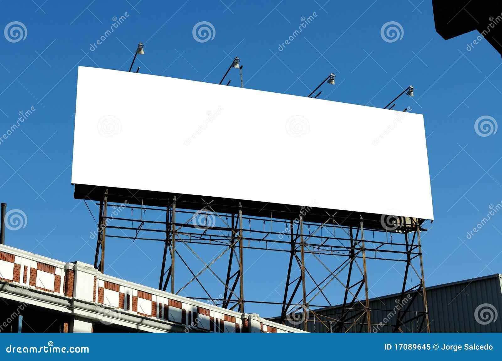 Big Blank Billboard On Building Royalty Free Stock Photo - Image ...