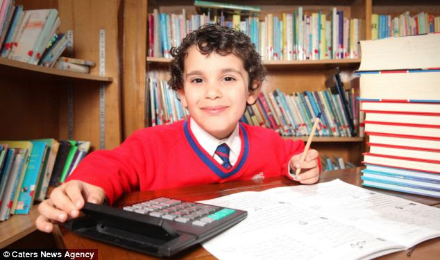 Sherwyn Sarabi, four, has achieved an IQ score of 160 - the highest possible mark on the Whechsler Scale