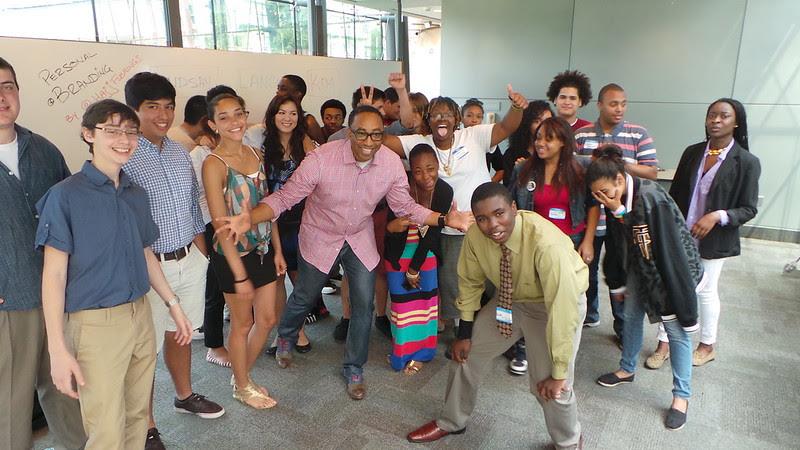 Hajj Flemings and Students at nexusEQ at Harvard