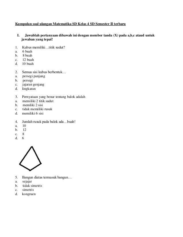 Soal Uts Matematika Kelas 3 Sd Semester 1  tacticalfile