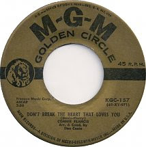45cat Connie Francis Dont Break The Heart That Loves You