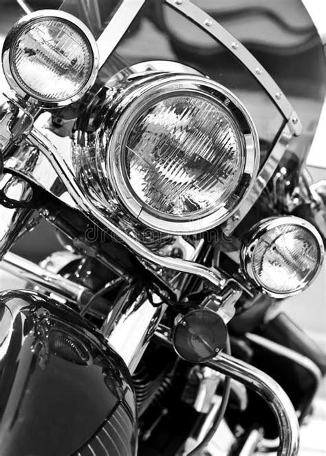 Chrome motorcycle stock image. Image of custom, detail