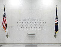 The lives of 87 fallen CIA officers are represented by 87 stars on the CIA memorial wall in the Original Headquarters building.