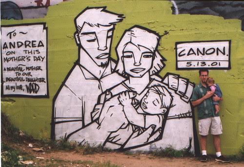 Mother's Day graffiti: me & Ava