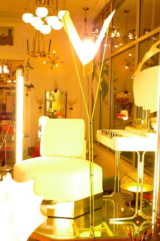 1980's Italian Yellow Enameled Floor Lamp attributed to Stilnovo ...