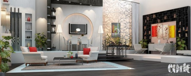 grey and black living room