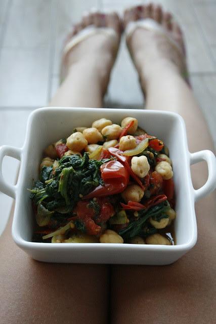 curry di ceci e spinaci