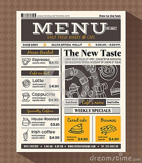 Restaurant Cafe Menu Design Template Stock Vector   Image