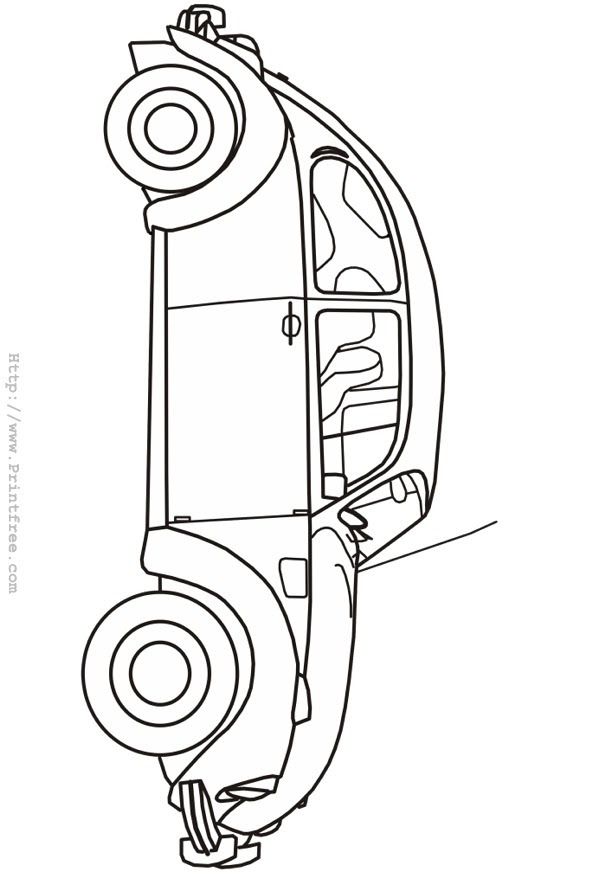 Classic Beetle outline image