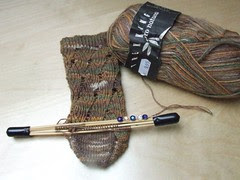 Pomatomus sock coming along