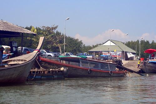 boat landing in phuket