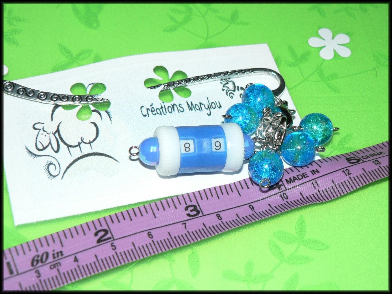 Stitch markers and bookmark/marqueurs de mailles et signet