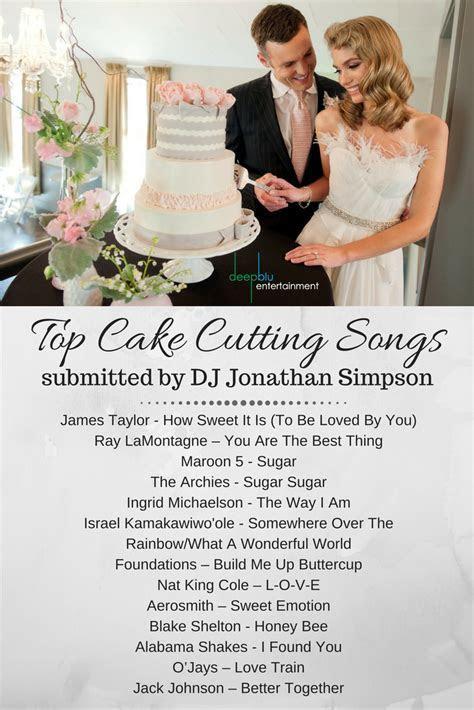DJ Jonathan Simpson's Top Cake Cutting Songs   Wedding