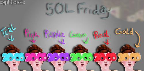 50L Friday Split Pea 2010 glitter glasses