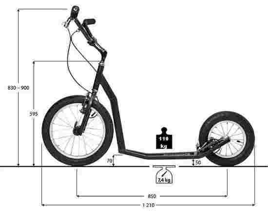 dimensions de la trottinette K-Bike K7