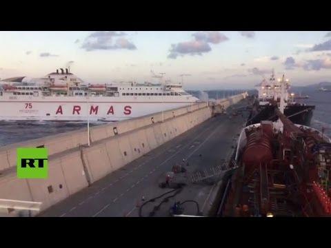 Un Ferry Con 140 Personas A Bordo Se Estrella Contra Un Muelle
